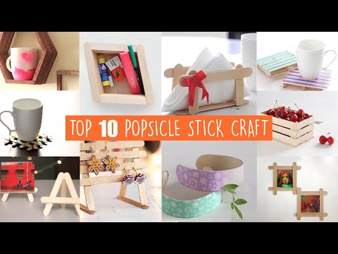 Top 10 Popsicle Stick Crafts   Home Decor Ideas