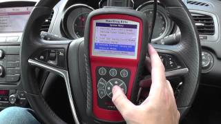 Autel MD802 Opel Vauxhall Airbag Warning Light Symbol Reset