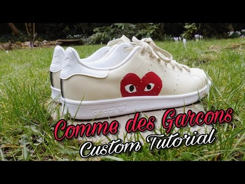 brand new db8bd 737db HOW TO Custom Stan Smith x Comme des Garçons - YouTube