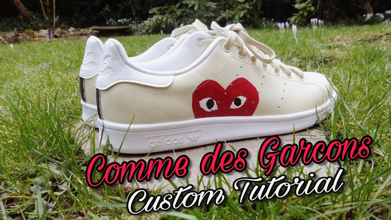 timeless design 30c19 52da7 HOW TO Custom Stan Smith x Comme des Garçons