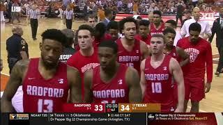 Texas vs. Radford Men's Basketball Highlights