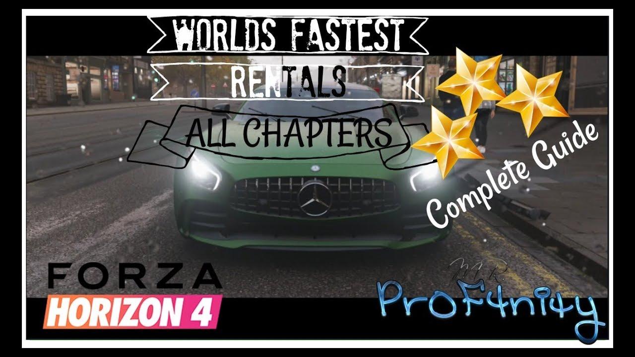 forza horizon 4 complete worlds fastest rentals guide audio