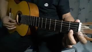 Gitar Tutorial melodi bas dan chord lagu Daerah Ampar Ampar Pisang
