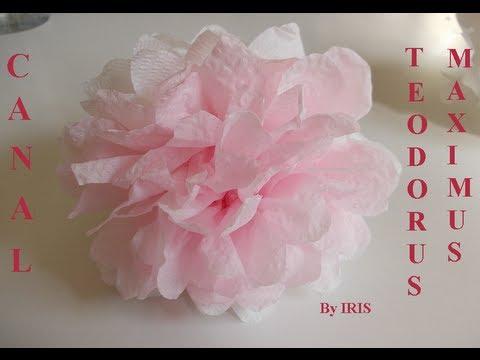 Como Hacer Una Flor De Papel Facil Rapida Y Barata 2013 How To Make