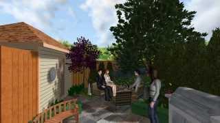 Garden 1 - Virtual 3d Walkthrough Of Garden Makeover Landscape Design