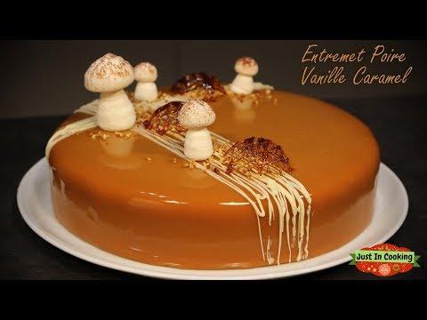 ❅-recette-d'entremets-poire-vanille-caramel-❅
