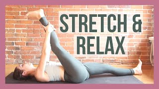 10 min Evening Yoga Stretch - Bedtime Yoga for Beginners