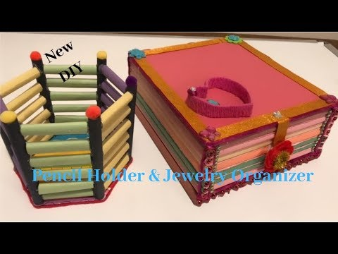 DIY | Paper Crafts | Cardboard crafts|Jewelry Organizer |Pencil Holder DIY| CrazeeCrafts