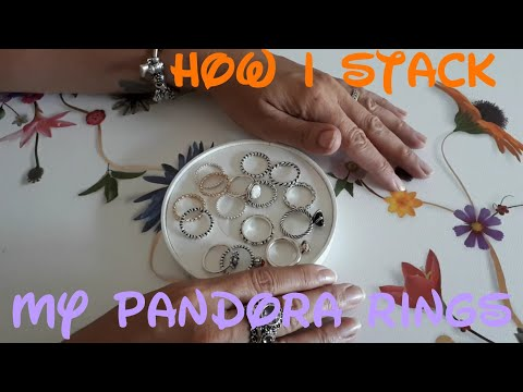 "How I stack my Pandora rings 💍 (edit gets stuck on 10:38 sorry) ""MyPandoraMoments"""