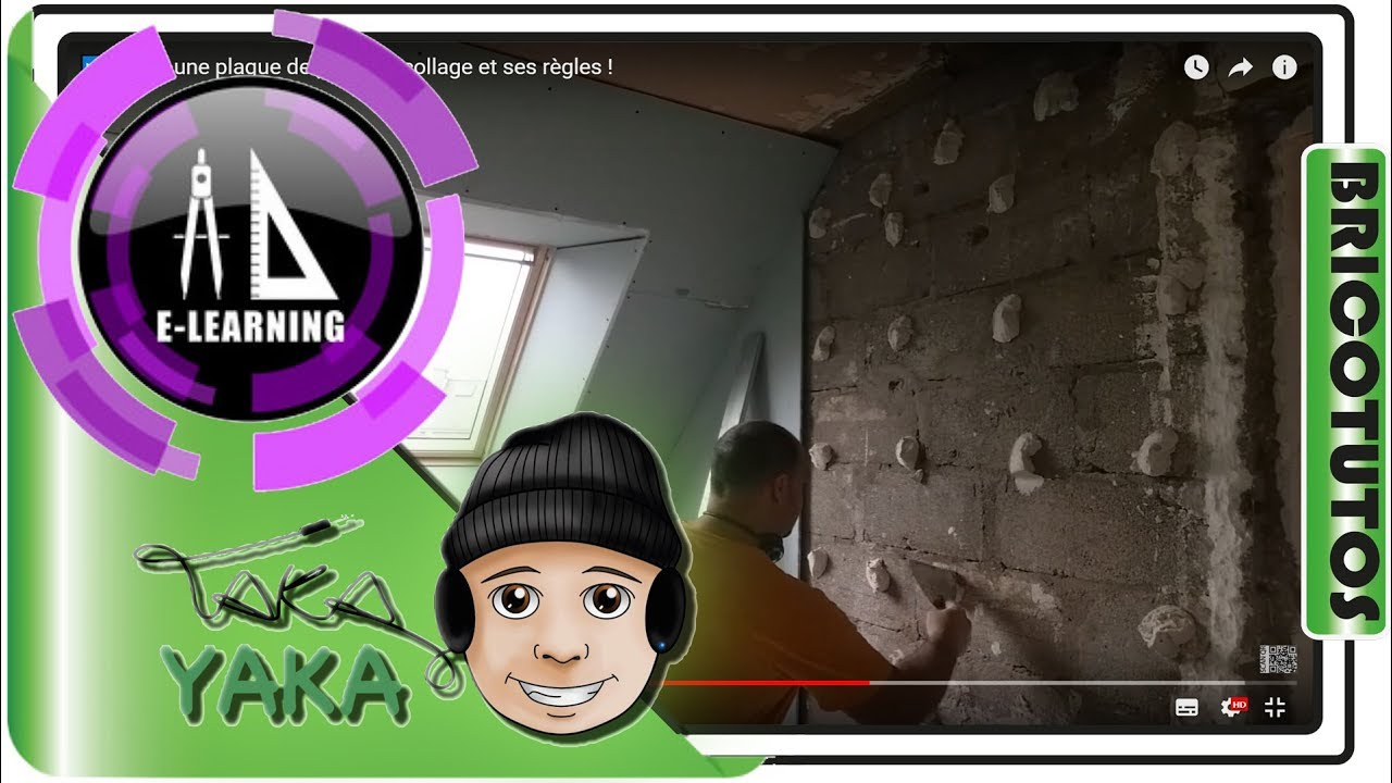 Coller une plaque de placo le collage et ses r gles youtube - Comment faire un plafond en placo ...