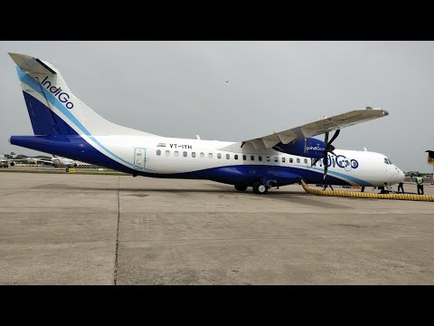 Landing in short tuticorin airport runway aboard the new indigo ATR 72 600