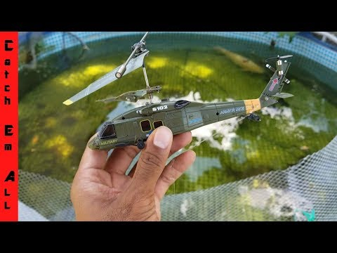 Thumbnail: RC Helicopter Catches Fish FISHING APP!