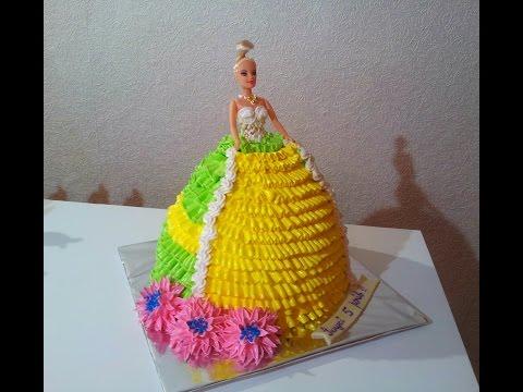 ТОРТ КУКЛА БАРБИ Как сделать торт КУКЛУ БАРБИ  Торты для девочек Barbie Doll Cake