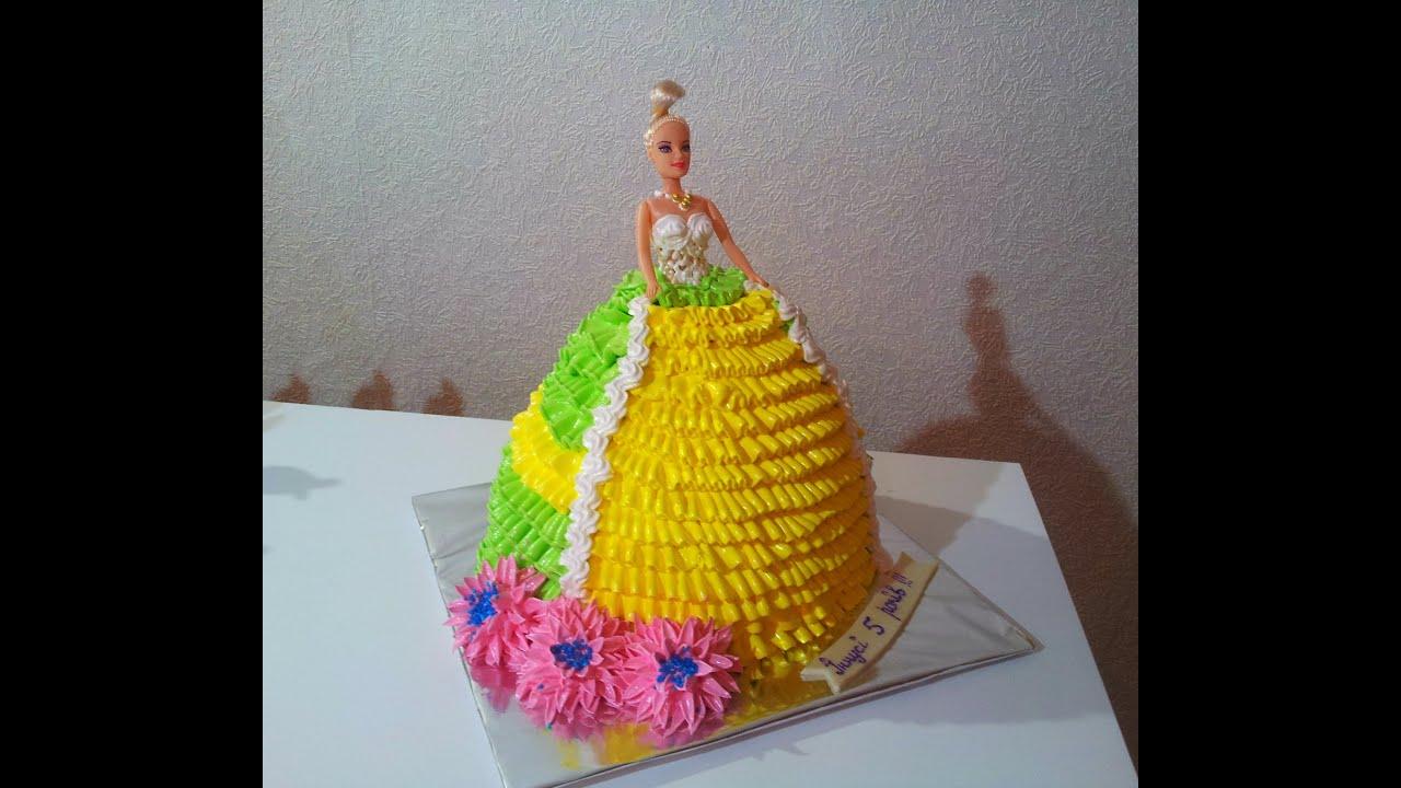 Как сделать торт с куклой барби самой фото 666