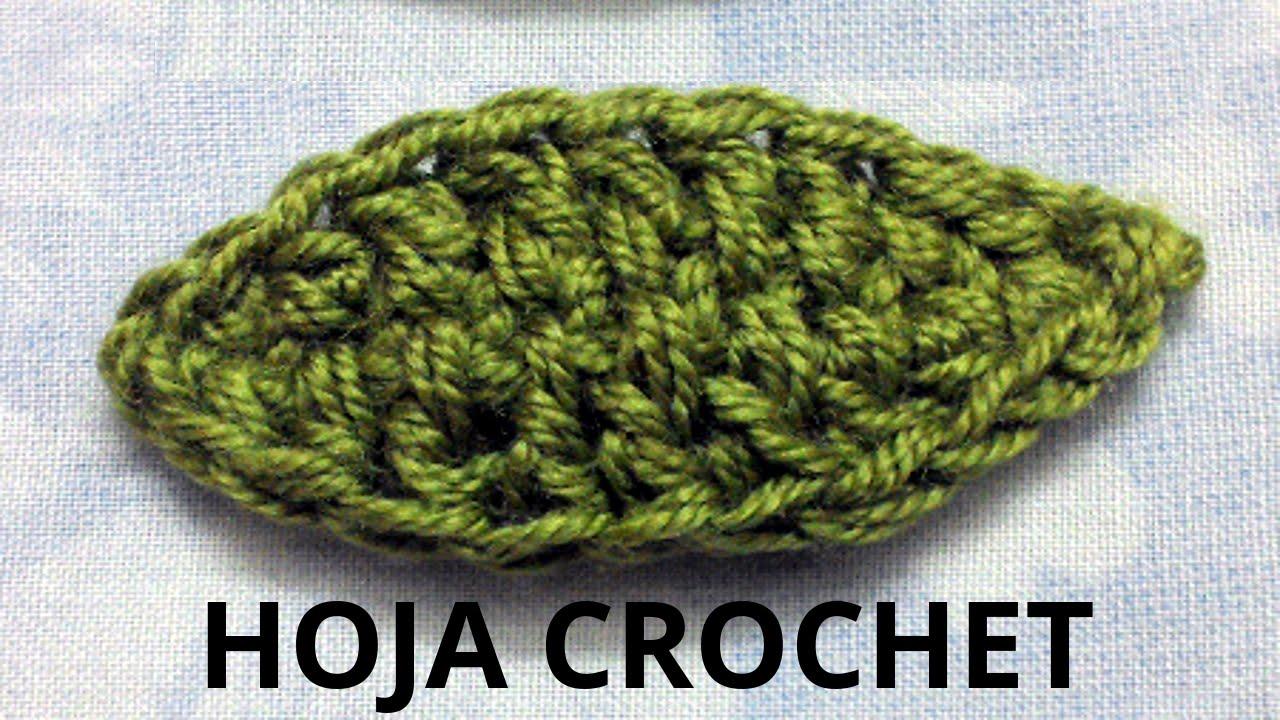 hoja n 1 en tejido crochet o ganchillo tutorial paso a