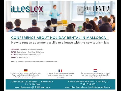 Conference about holiday rental in Mallorca | Pollentia Rentals