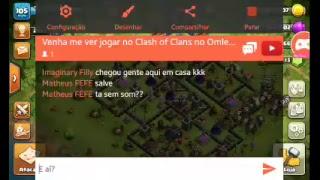 Venha me ver jogar no Clash of Clans (Live gravada) 😆👍✌