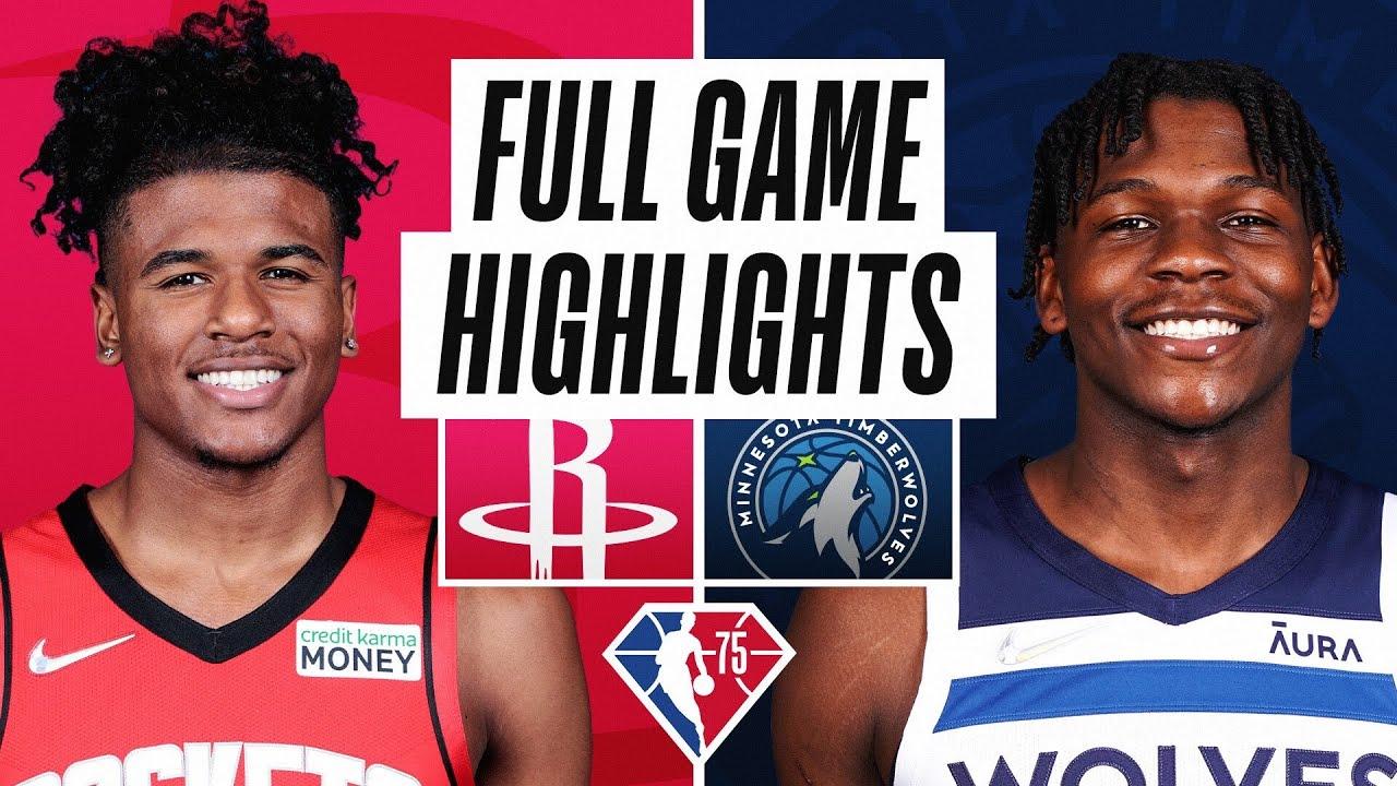 ROCKETS at TIMBERWOLVES | FULL GAME HIGHLIGHTS | October 20, 2021 - NBA