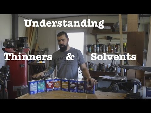 Understanding solvents & thinners | Informational