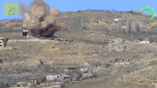 Opposition fighters target military vehicles of Syrian Army in Zabadani, Damascus 4/2/2013