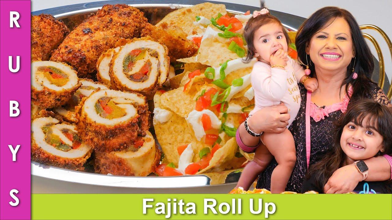 Air Fried Chicken Fajita Roll Ups Recipe in Urdu Hindi - RKK