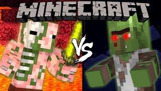Zombie Pigman vs. Zombie Villager - Minecraft