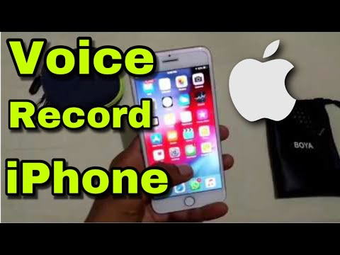 How to record voice in iphone | Apple iPhone 5/5s/6/6s/7/7 plus/8/10/X iOS  9/10/11/12