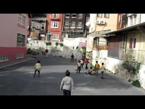 Vacation Turkey: Turkish children playing Soccer - HD