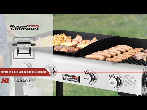 Royal Gourmet Gd401portable Propane Gas Grill And Griddle Combo