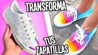 TRANSFORMA TUS ZAPATILLAS/TENIS VIEJOS A NUEVOS ❤️6 IDEAS - Tutoriales Belen