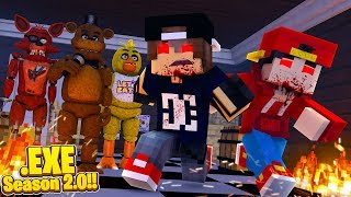 Minecraft EXE 2.0 - THE JOKER TAKES CONTROL OF THE FNAF ANIMATRONICS!!