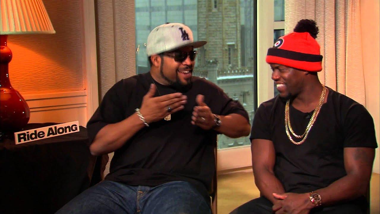 Kevin Hart and Ice Cube talk 'Ride Along' and tough grandmas