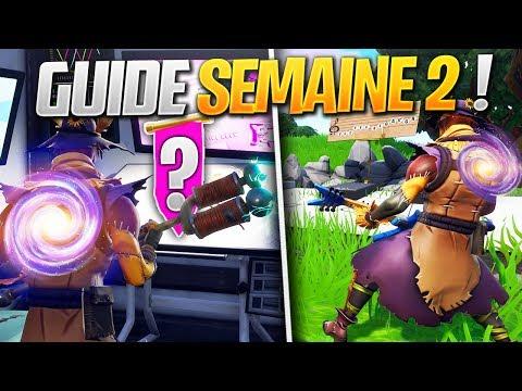 GUIDE COMPLET des DÉFIS de la SEMAINE 2 SAISON 7 de FORTNITE ! (Fortnite Astuce)