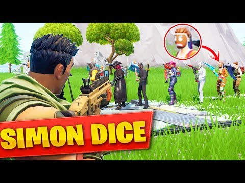JUGANDO SIMON DICE con *NOOBS* en FORTNITE 😂