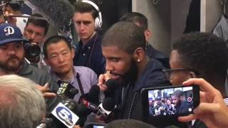 Kyrie Irving Postgame Interview | Cavaliers vs Warriors | Game 2 | NBA Finals 2017