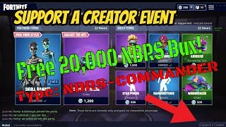 Fortnite / Enter My Support A Creator Tag For Free 20,000 NBRS Bux! 🎁