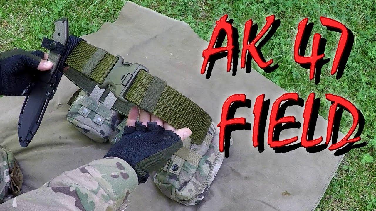 Пояс Выживальщика. Нож АК 47 Field