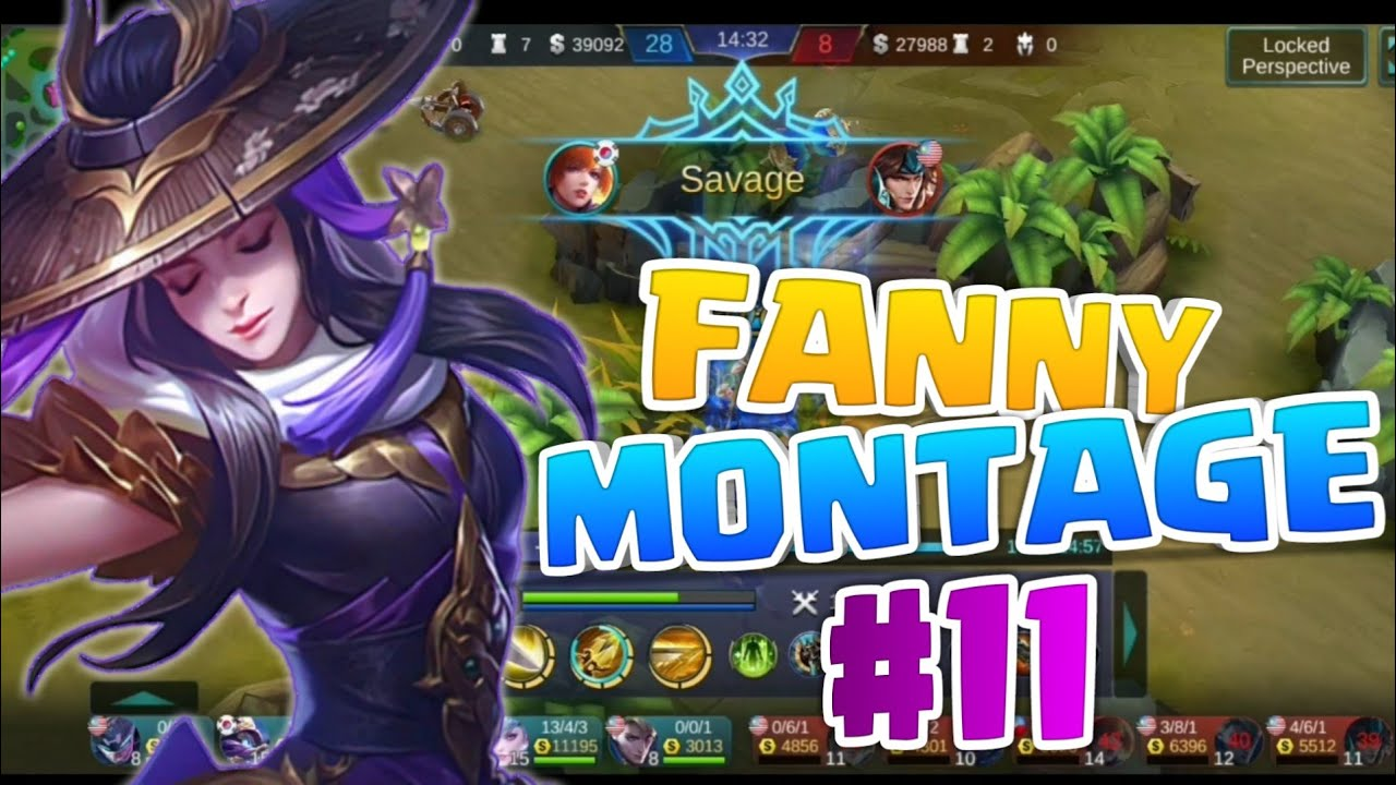 fanny wallspam savage series |fanny montage #11| mobile legends bang bang