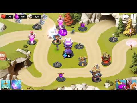 Castle Creeps TD - Chapter 8 Level 30-Cave Match 3 Stars