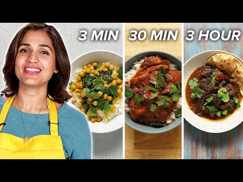 3-Minute Vs. 30-Minute Vs. 3-Hour Curry • Tasty