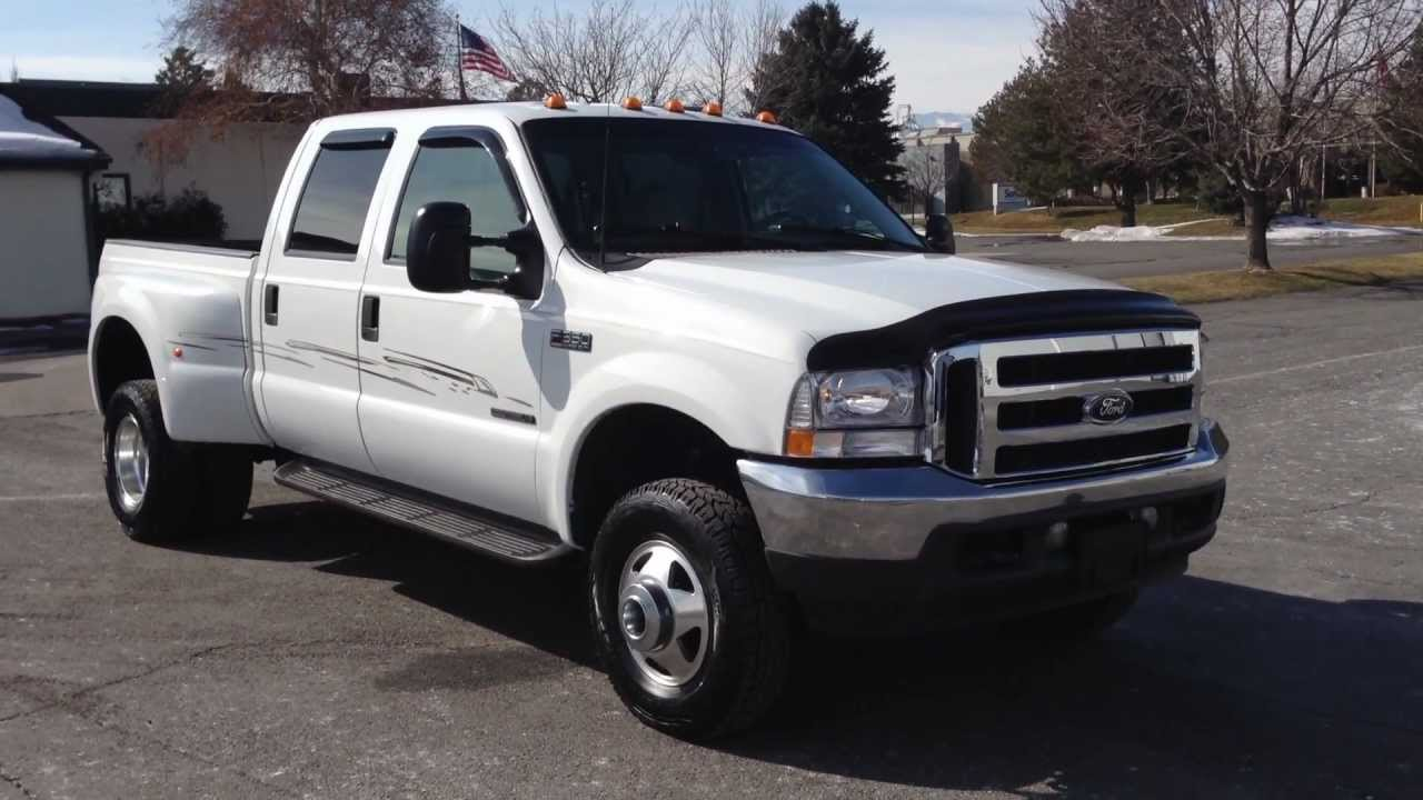 2001 ford f350 crew cab dually 4x4 shortbed 7 3 powerstroke turbo diesel youtube