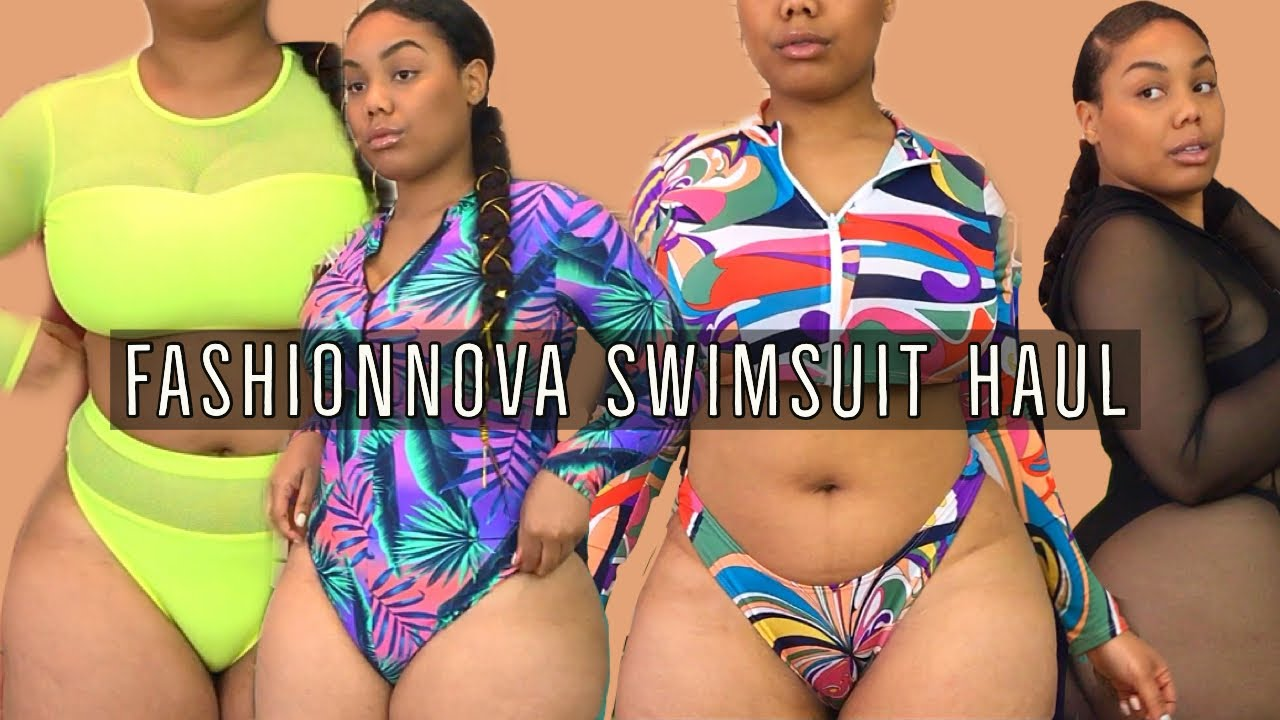 HOLD UP, FASHION NOVA! THESE SWIMSUITS LIT ???? PLUS SIZE BIKINI TRY-ON HAUL