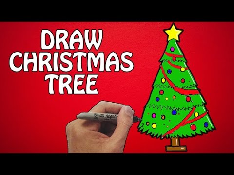 How To Draw Christmas Tree How To Draw Xmas Tree Festival