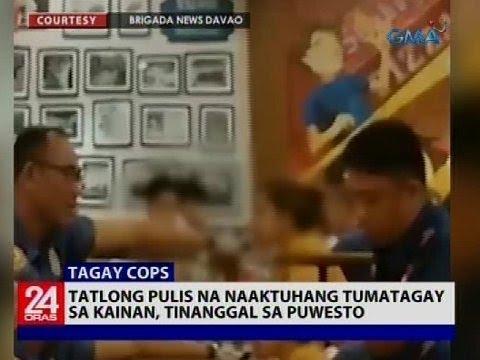 Download Tatlong pulis na naaktuhang tumatagay sa kainan, tinanggal sa puwesto