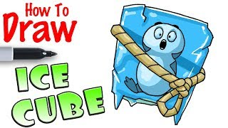 How to Draw Ice Cube Back Bling | Fortnite