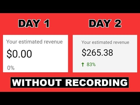 HOW TO MAKE $270 ON YOUTUBE WITHOUT RECORDING ANY VIDEO 2020