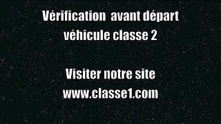 Vérification avant départ VAD autobus classe 2