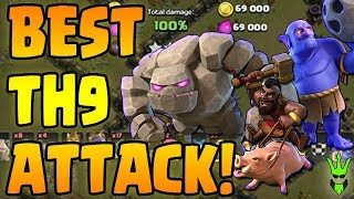 Hit ANY TH9 with this Attack! - TH9 Mid-Hero GoHoBo Guide! - Clash of Clans - Best War Attack