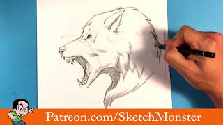 How to Draw  a Werewolf - Halloween Drawings -  Easy Drawings