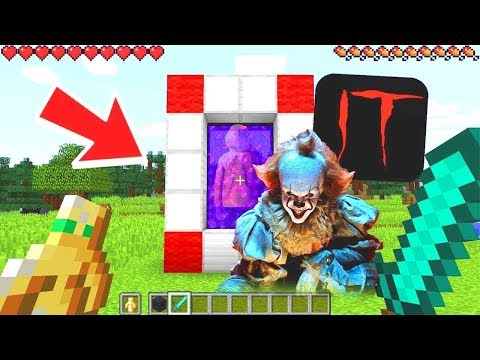 HOW TO MAKE A PORTAL TO THE SCARY PENNYWISE IT DIMENSION - MINECRAFT IT